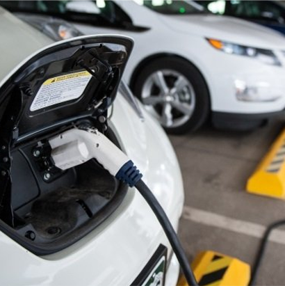 Infrastructure Spending: Charging an electric vehicle