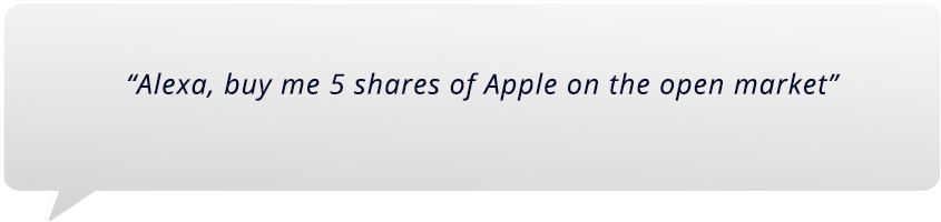 Private Equity Strategies: Alexa Command 'Buy me 5 shares of Apple on the open market'