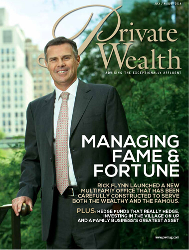 Private Wealth Magazine Cover: Managing Fame & Fortune