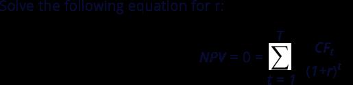 MOIC vs IRR: IRR Equation