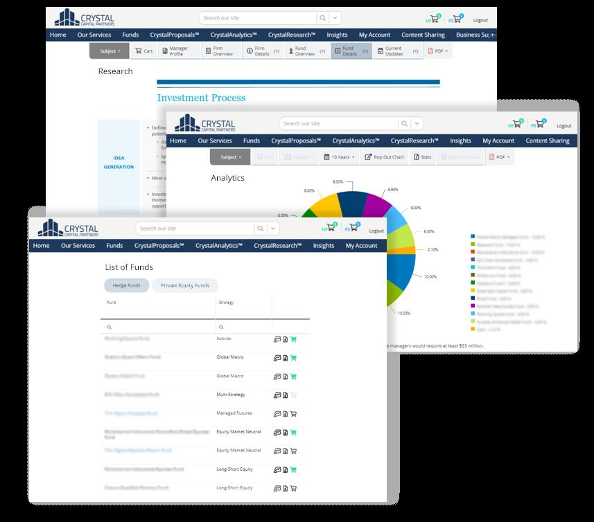 Alternative Investment Technology Portfolios Screenshot